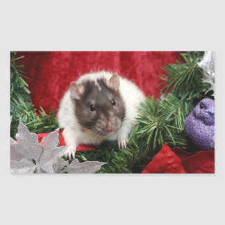 Christmas Rat Stickers