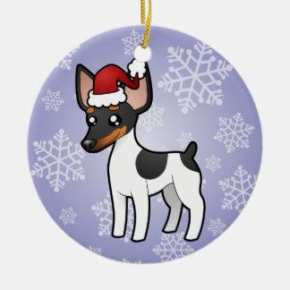 Christmas Rat Terrier / Toy Fox Terrier Ceramic Ornament
