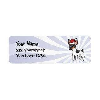 Christmas Rat Terrier / Toy Fox Terrier Label