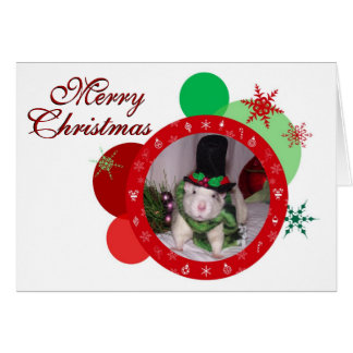 Christmas Rattie Card