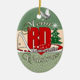 CHRISTMAS RD REGISTERED DIETITIAN CERAMIC ORNAMENT