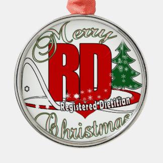 CHRISTMAS RD REGISTERED DIETITIAN METAL ORNAMENT