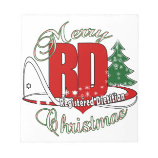 CHRISTMAS RD REGISTERED DIETITIAN NOTEPAD