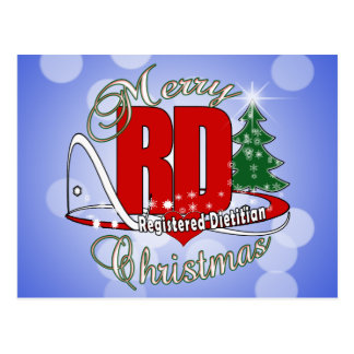 CHRISTMAS RD REGISTERED DIETITIAN POSTCARD