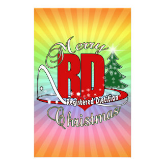 CHRISTMAS RD REGISTERED DIETITIAN STATIONERY