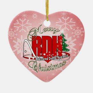 CHRISTMAS RDH Registered Dental Hygienist Ceramic Ornament