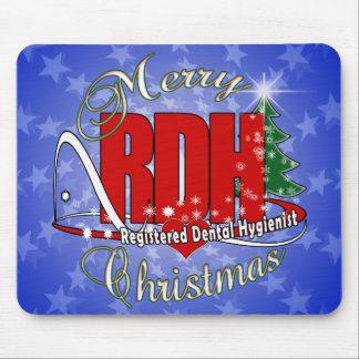 CHRISTMAS RDH Registered Dental Hygienist Mouse Pad