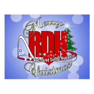 CHRISTMAS RDH Registered Dental Hygienist Postcard