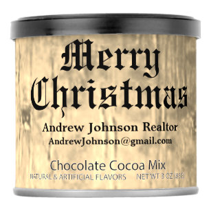 christmas realtor client gifts art personalized hot chocolate drink mix