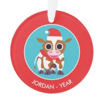 Christmas Reba the Cow Ornament
