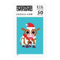 Christmas Reba the Cow Postage