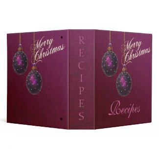 Christmas Recipe Avery Binder binder