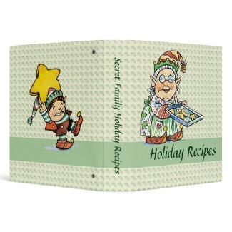 Christmas Recipe binder binder