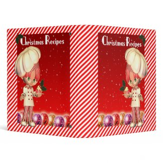 Christmas Recipe Binder With Cute Chef binder