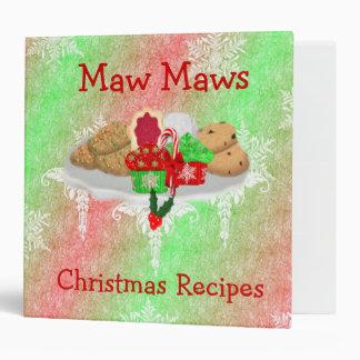 Christmas Recipe Book 3 Ring Binder