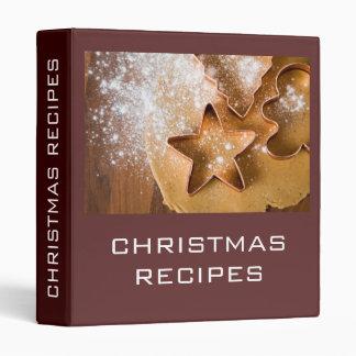 Christmas recipes binder