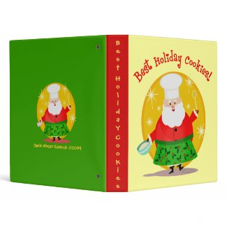 Christmas Recipes Scrapbook Photo Binder binder
