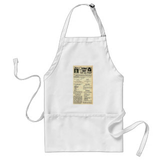 Christmas Recipes with Silent movie stars Adult Apron
