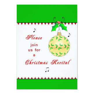 Christmas Recital Invitation - Ornaments