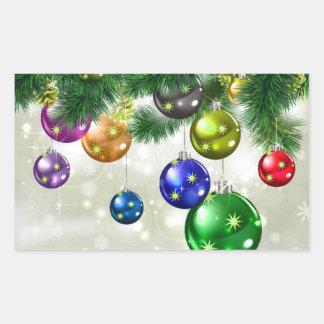 Christmas Rectangular Sticker