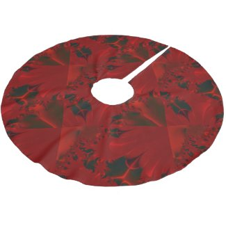 Christmas Red Abstract Design Brushed Polyester Tree Skirt