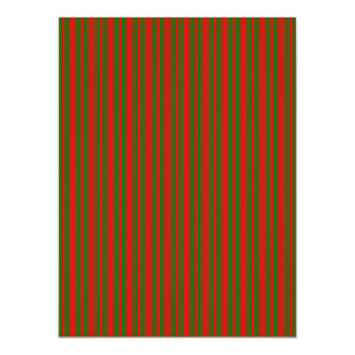 Christmas Red and Christmas Green Stripes Announcement