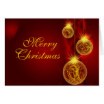 Christmas Red and Gold, Merry, Christmas Greeting Card