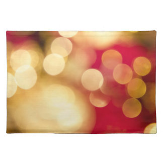 Christmas Red and Gold Placemat Cloth Placemat