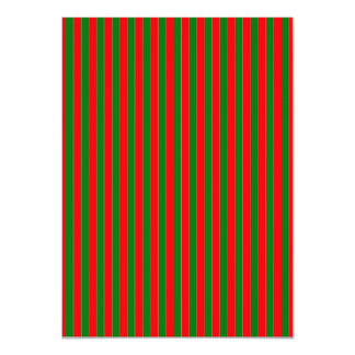 Christmas Red and Green Candy Cane Stripes 4.5x6.25 Paper Invitation Card
