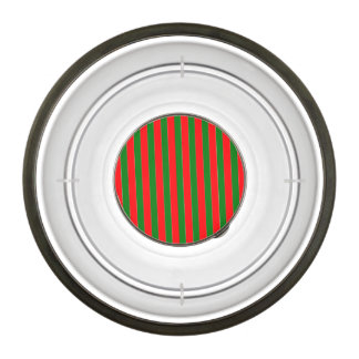 Christmas Red and Green Candy Cane Stripes Pet Bowl