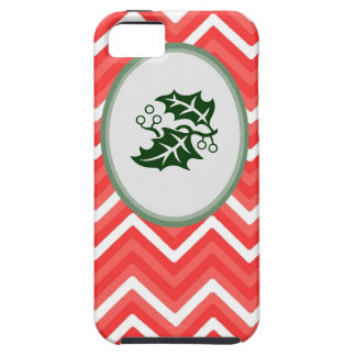 Christmas Red and Green Chevron  Iphone Case 4