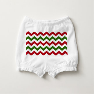 Christmas Red and Green Chevron Pattern Diaper Cover