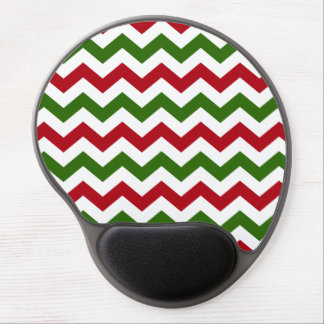 Christmas Red and Green Chevron Pattern Gel Mouse Pad