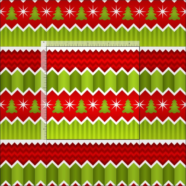 Christmas Red And Green Chevron Stripes Pattern Fabric ...