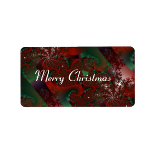 Christmas Red And Green Crystal Floral  Gift Tag at Zazzle