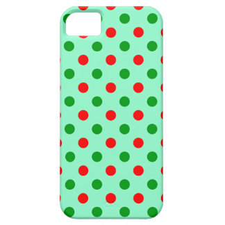 Christmas Red and Green Polka Dots iPhone 5 Case