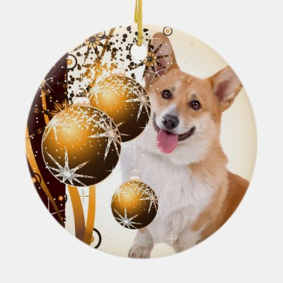 kawaii christmas corgi puppy gift ornament zazzlecom - Corgi Christmas Ornaments