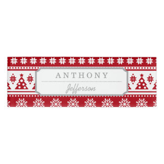 red pattern name tags zazzle