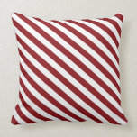 Christmas red and white diagonal stripes. throw pillows