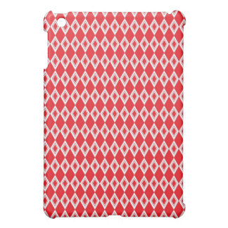 Christmas Red and White Diamond Pattern Cover For The iPad Mini