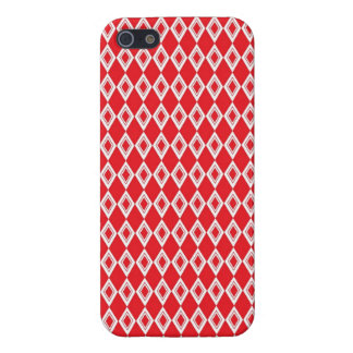 Christmas Red and White Diamond Pattern iPhone 5/5S Covers