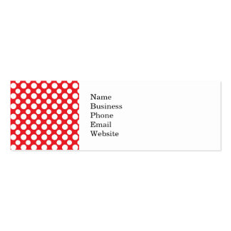 Christmas Red and White Dot Patterns Double-Sided Mini Business Cards (Pack Of 20)