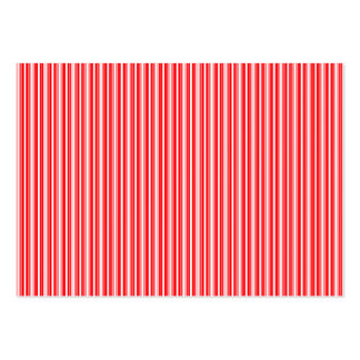 Christmas Red and White Stripes Business Card Templates
