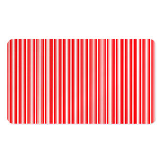 Christmas Red and White Stripes Business Cards