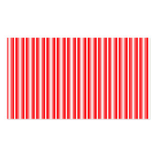 Christmas Red and White Stripes Business Card Template