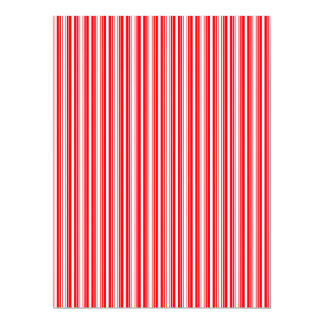 Christmas Red and White Stripes Personalized Invitation Card