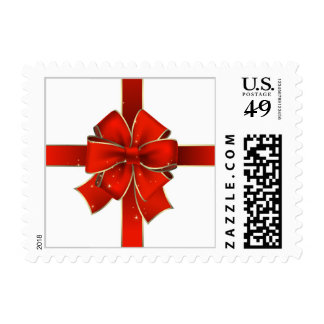 Christmas Red Bow Postage - SRF