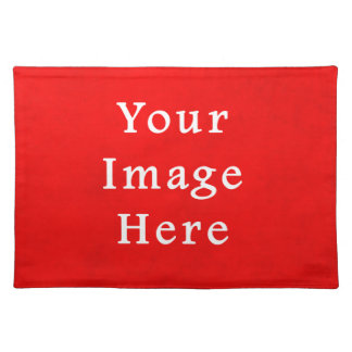 Christmas Red Bright Parchment Color Template Placemat