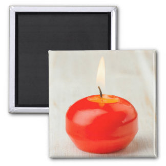 Christmas Red Candle Lit Magnet