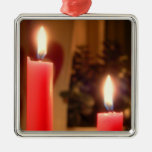 Christmas Red candles Christmas Tree Ornaments